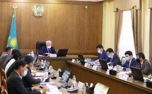 заседание акимата области под председательством Бердибека Сапарбаева