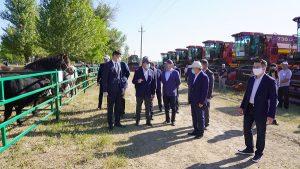 рабочая поездка Мамина в Жамбылскую область
