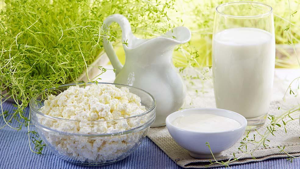 свежие продукты из молока