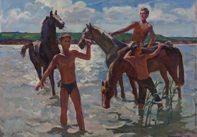 Купание коней