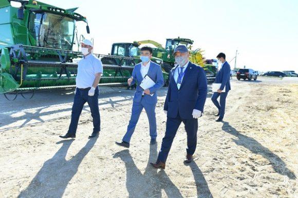 уборка урожая в Туркестанской области