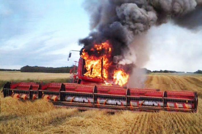 возгорание сельхозтехники