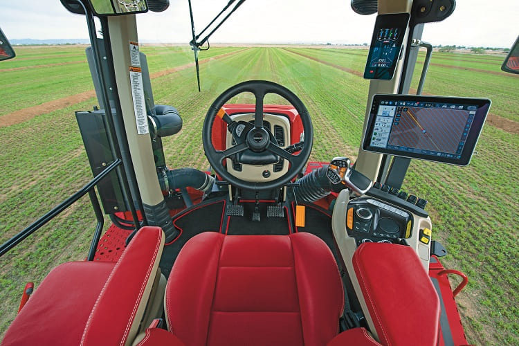 The AFS Connect™ Steiger® series tractor features a completely redesigned cab