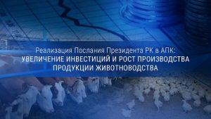 Реализация Послания Президента РК в АПК